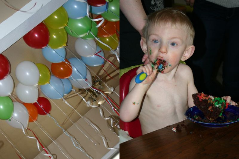 BALLOONS AND CAKE